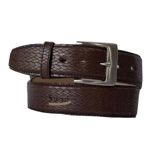 Cinturón casual Sabinal Grabado  40 mm